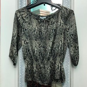 Synched waisted blouse